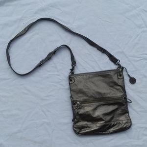 metallic silverish THE SAK crossybody bag